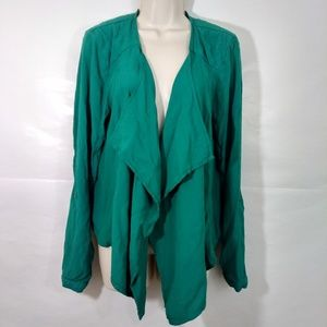 Maurices Large Emerald Open Front Draped Cardigan